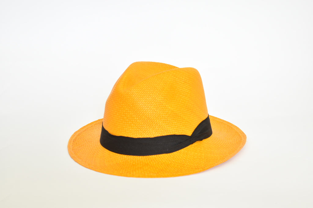 Toquilla Straw Hat- Light Orange