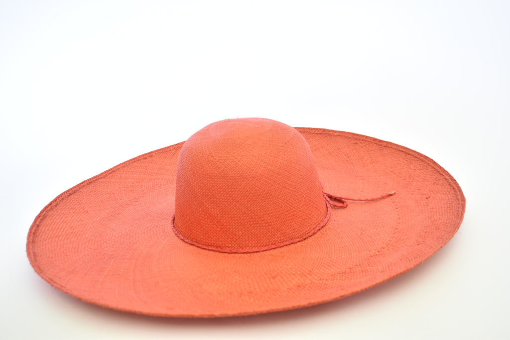 Toquilla Straw Beach Hat - Orange