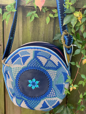 Boho Round Leather Bag