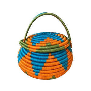 Multipurpose Guacamaya Basket (Big) - Orange/Blue