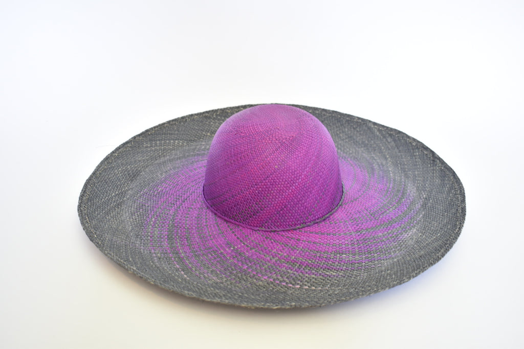 Toquilla Straw Beach Hat - Grapes