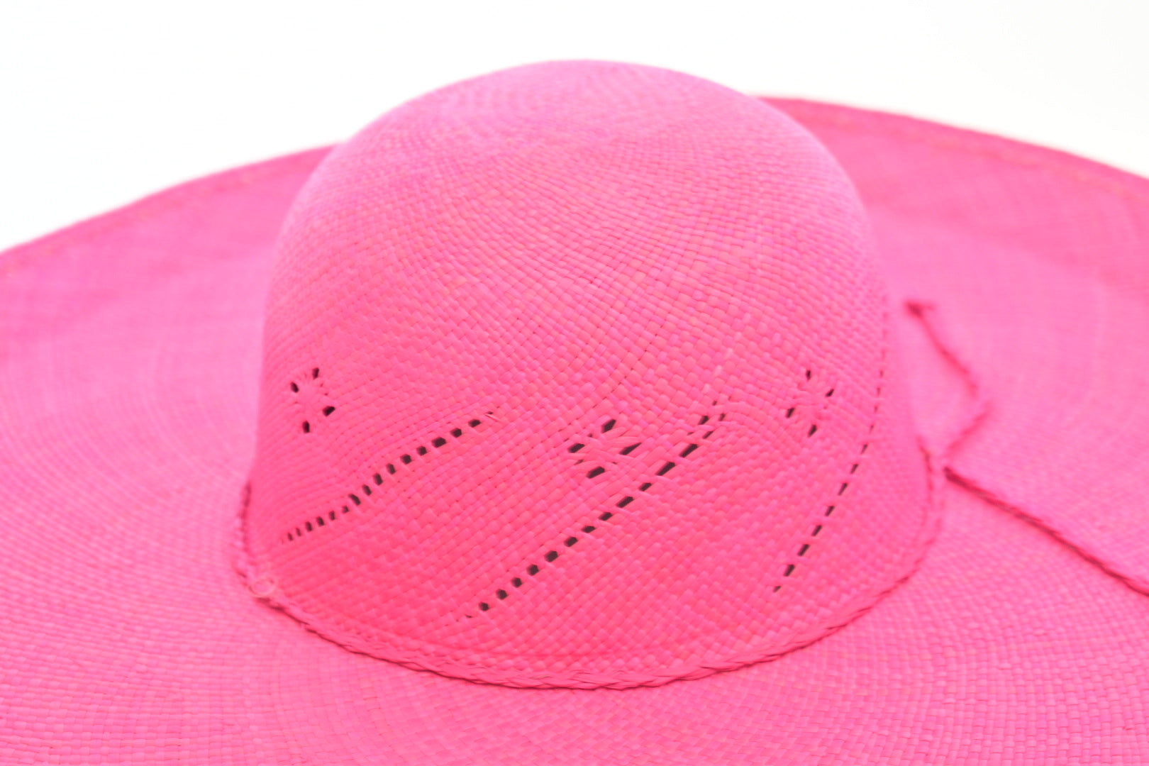 Toquilla Straw Beach Hat - Rosa
