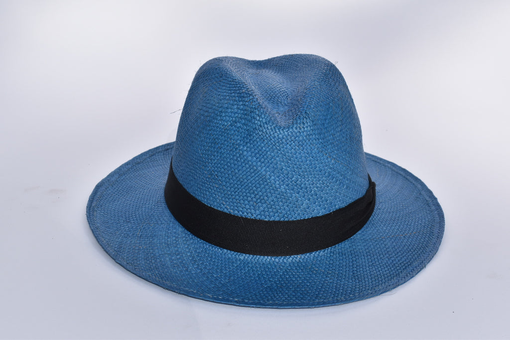 Toquilla Straw Hat - Blue