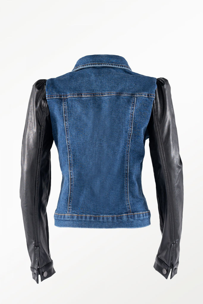 TR Leather Jean Jacket