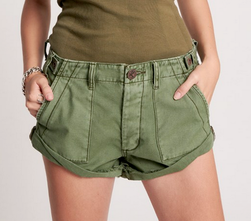 One Teaspoon Khaki Cargo Bandit Short