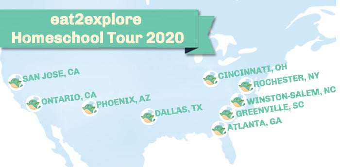 eat2explore Homeschool Convention Tour 2020