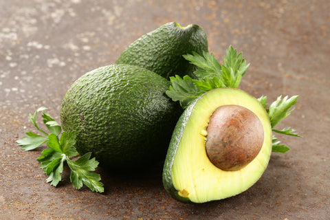 ripe avocado with seed