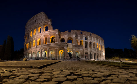 roman colosseum at night