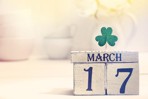 March 17 date on blocks St Patrick's Day