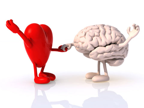 heart and brain dancing together