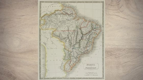 old map of Brazil