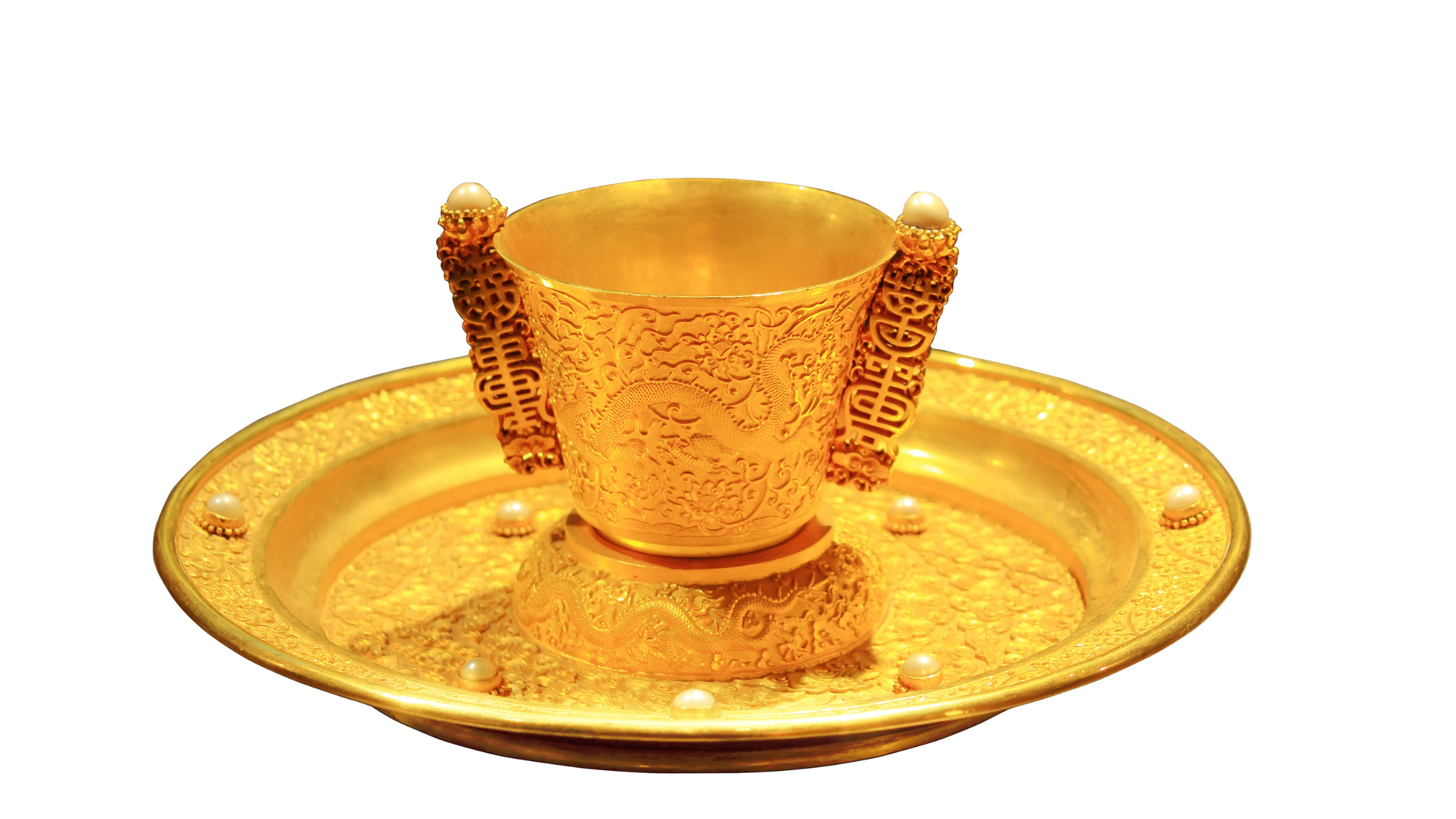Chinese emperor's gold teacup