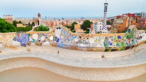 View from the balcony of Park Guell by Gaudi