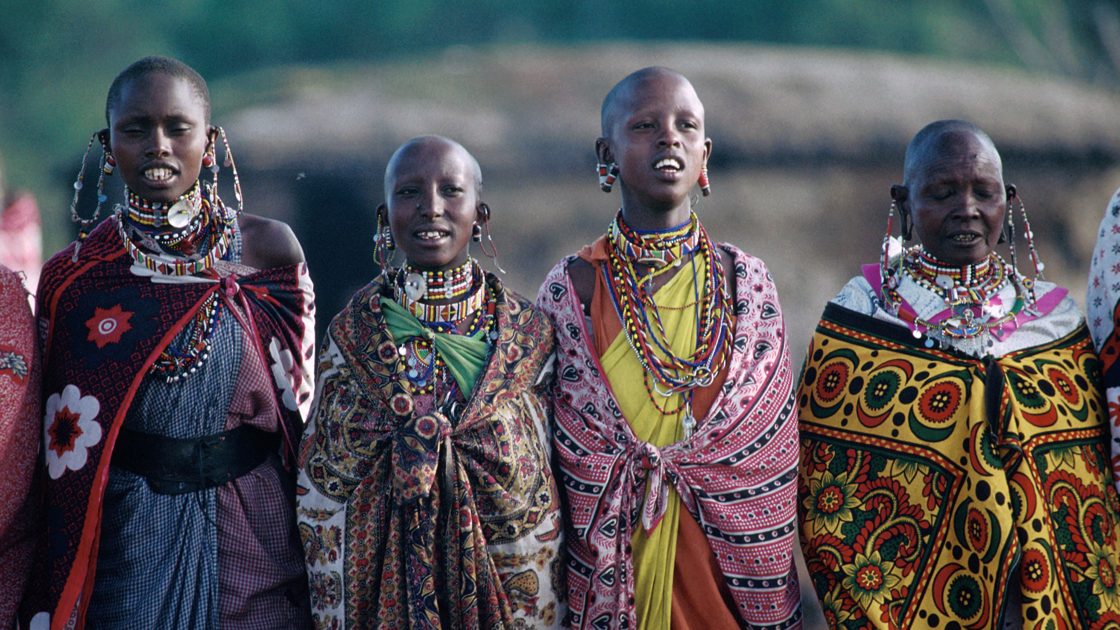 Kenyan people in traditional attire