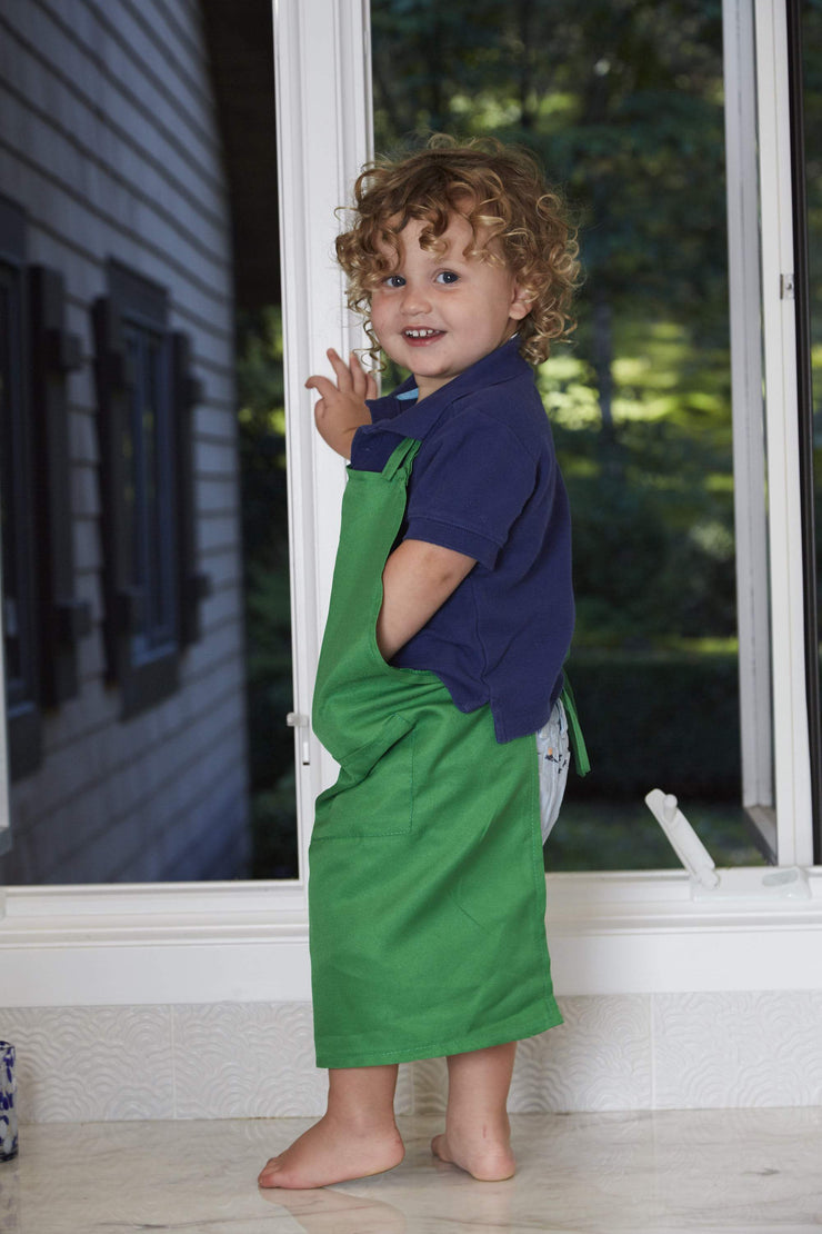 green kids apron