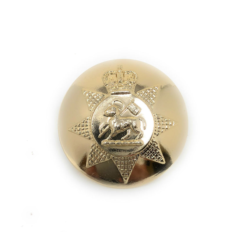 PWRR - Tunic Button (Queen's Regiment Pattern) - Gold AAL - 40L