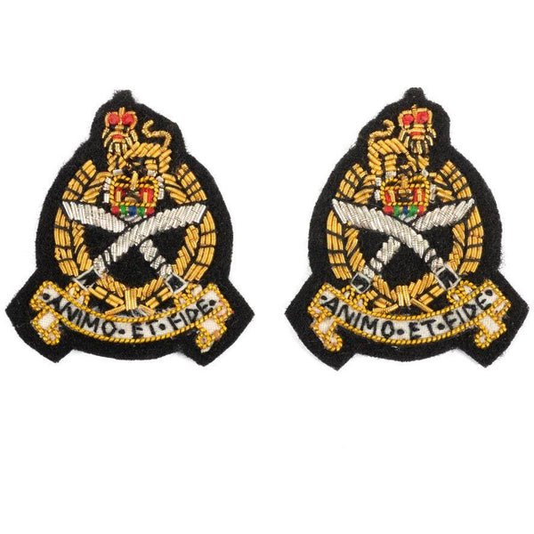 GSPS-Mess Dress Collar Badges - Black Ground