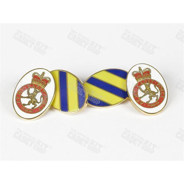 Army Cadet Force Hand Enameled Gilt Plated Cufflinks