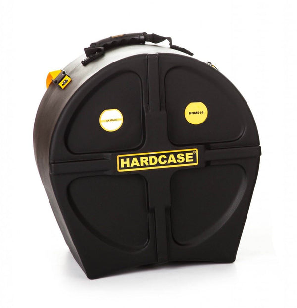 Hardcase 14 inch Black Drum Case  - Suitable for All Makes of Military Pattern Side Drums that Feature Wooden Hoops (Premier 97 & 97s, Pearl Viscount & Andante Pro)