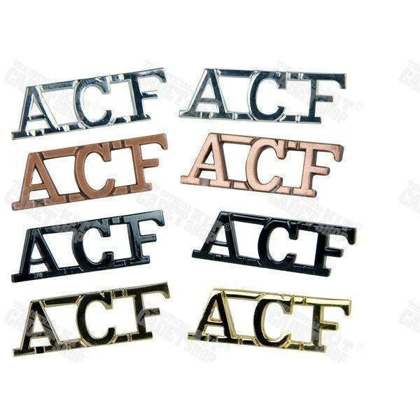 ACF Shoulder Titles | Official Cadet Kit Shop | Clearance
