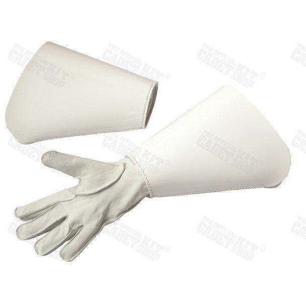 "Royal Marine Pattern Gauntlets-Uniform Clothing & Accessories-Ammo & Company-White Gloss-Large - 9""-Cadet Kit Shop"