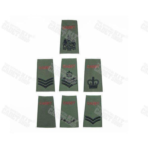 Cadet Olive Rank Slides | Cadet Kit Shop | Embroidered Badges