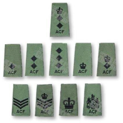 Adult Volunteer ACF Rank Slide | Official Cadet Kit Shop | Clearance