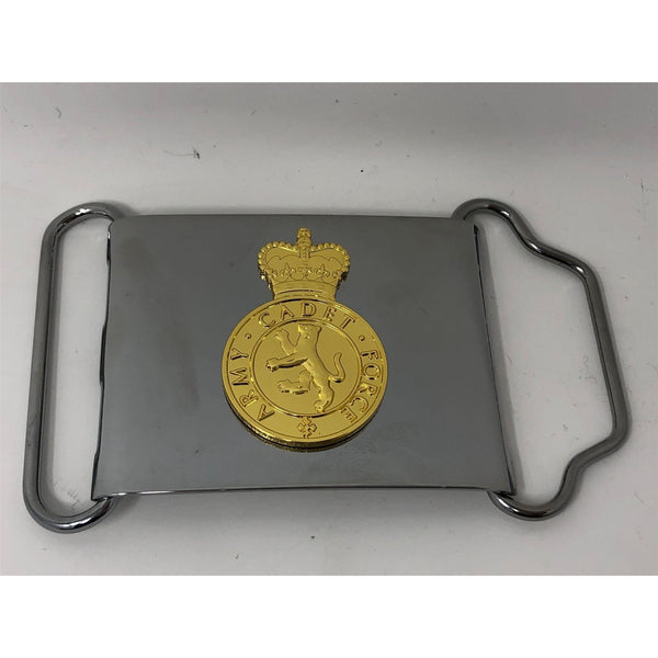 ACF MoD Plate in Chrome + ACF No1 Dress Cap Badge