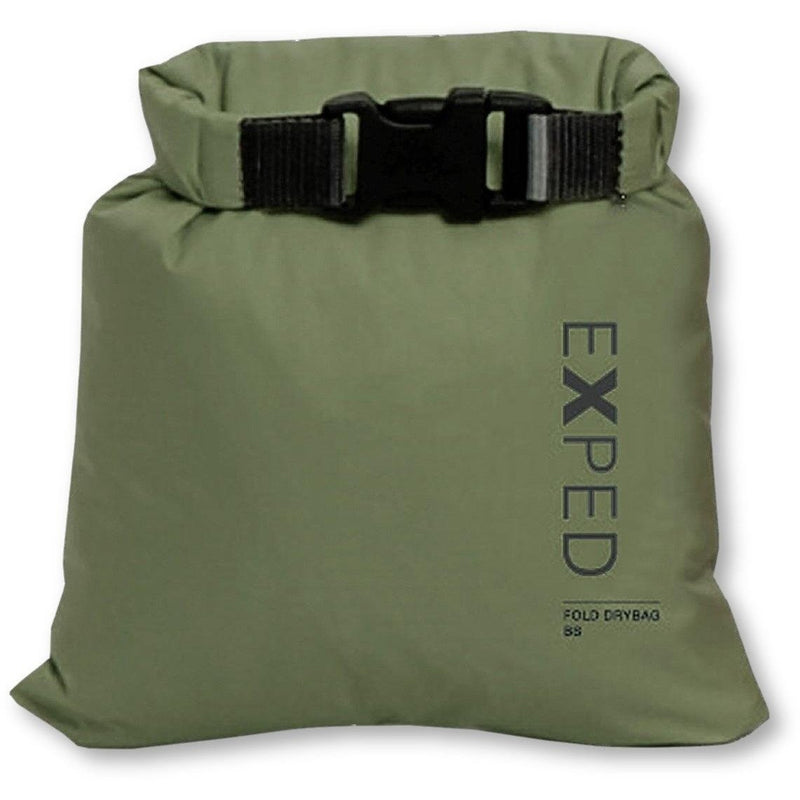 Exped 100% Waterproof Fold-Drybag - Olive - M - 8L