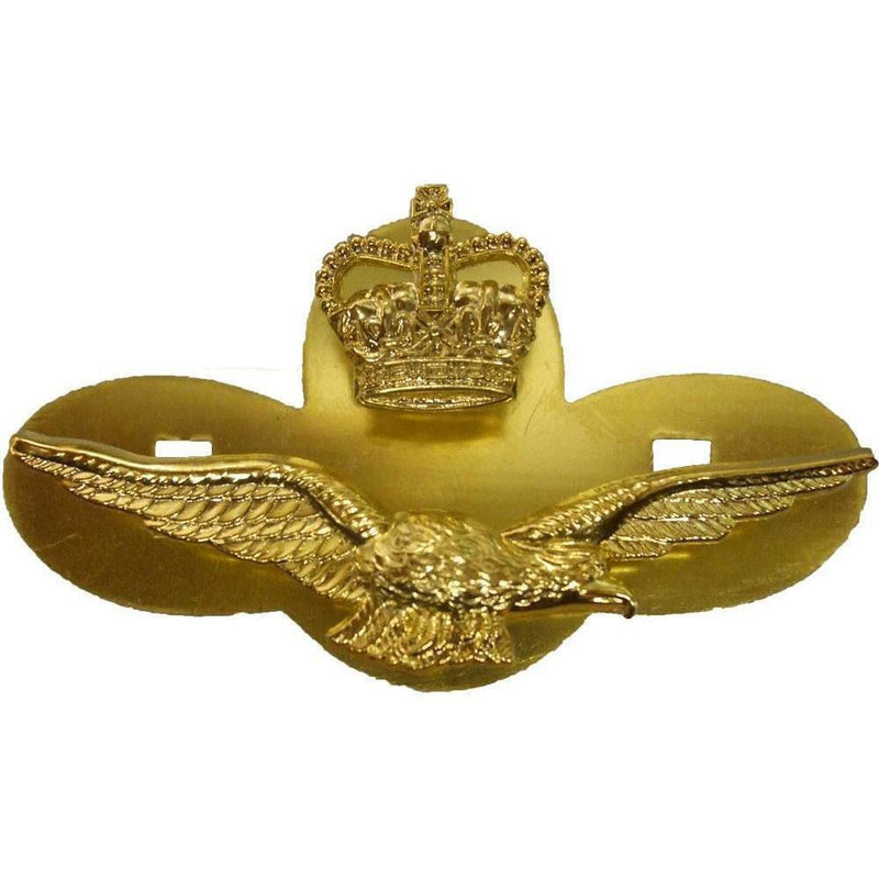 Royal Air Force Officers Side Hat Badge with Backplate