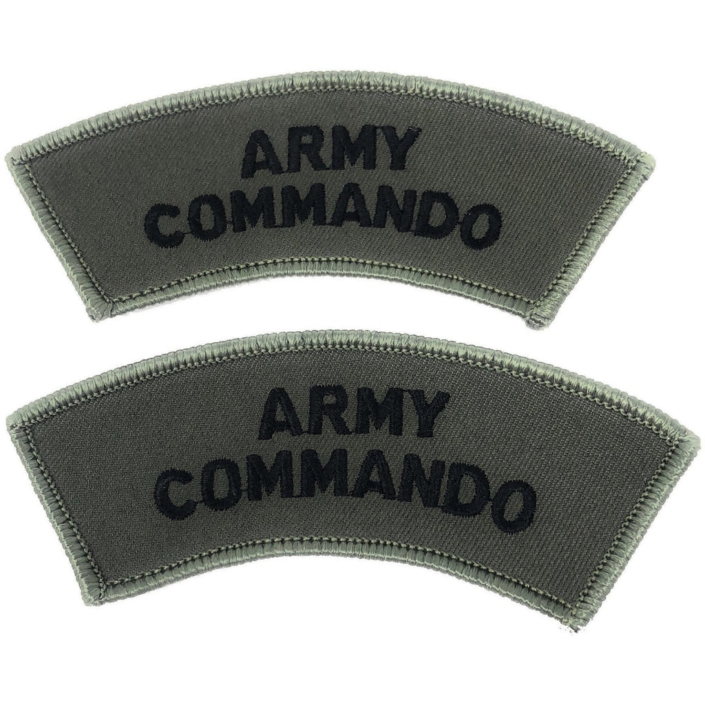 Army Commando Shoulder Title -Black on Olive | Official Cadet Kit Shop | TRF