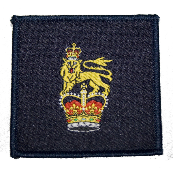 TRF - Army General Staff - Crown & Lion - Dark Navy - 60 x 60mm  - Pack of 5
