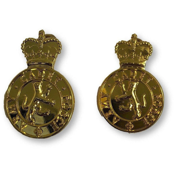 ACF -No1 Dress - Collar badges, Gilt Plate -  Shank and Pin Fitting | Official Cadet Kit Shop | Uniform Clothing & Accesories