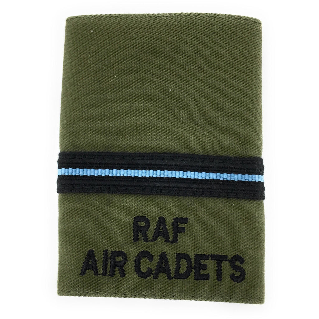 Officers' No2 Dress Olive Rank Slide - RAF Air Cadets-Embroidered Badges-Ammo & Company-Wing Commander-Cadet Kit Shop