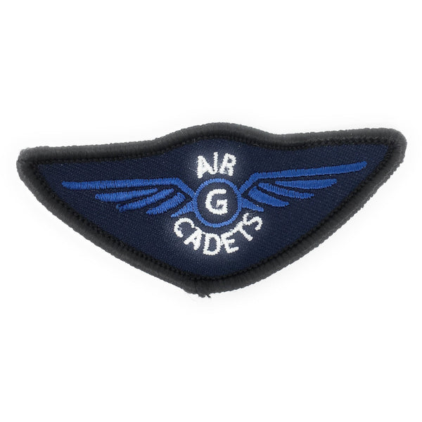 Air Cadet Blue ATP Gliding Wings Badge - Blue Wings - Merrow Border - Paper Backing | Official Cadet Kit Shop | Cadet Force Badges