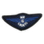 Air Cadet Blue ATP Gliding Wings Badge - Blue Wings - Merrow Border - Paper Backing