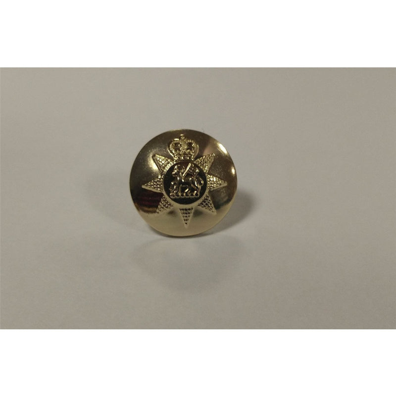 PWRR- Tunic Button (Queen's Regiment Pattern)  - Gold AAL - 30L