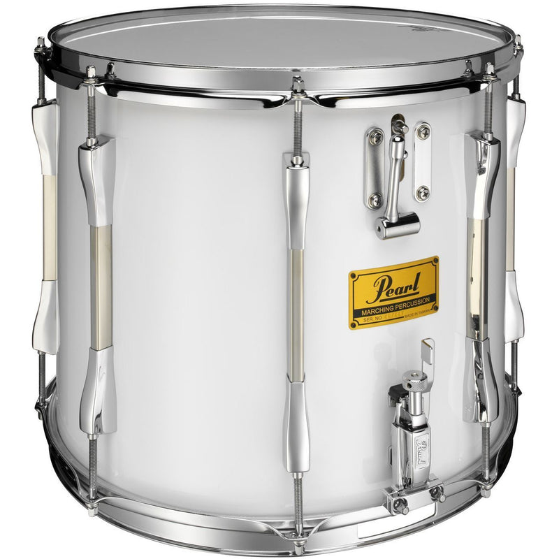 "Pearl Parade Series Military Side Drum 14"" x 12"" Twin Snare, White Wrap Chrome Counterhoops"