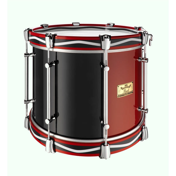 "Viscount Model Pearl Military Tenor 16"" x 12"" Red & Blue (RB#795) Royal Pattern Wooden Counterhoops"