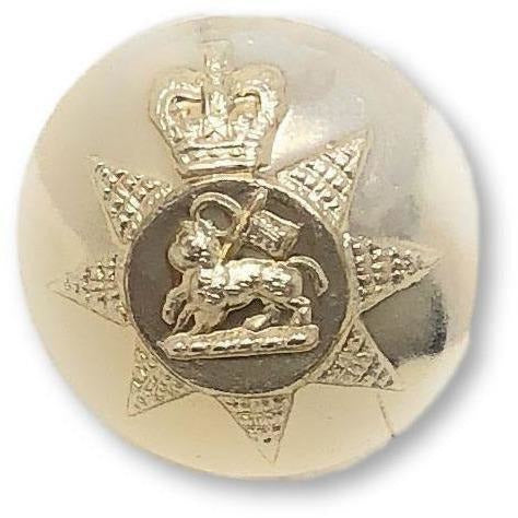 PWRR- Tunic Button (Queen's Regiment Pattern)  - Gold AAL - 22L