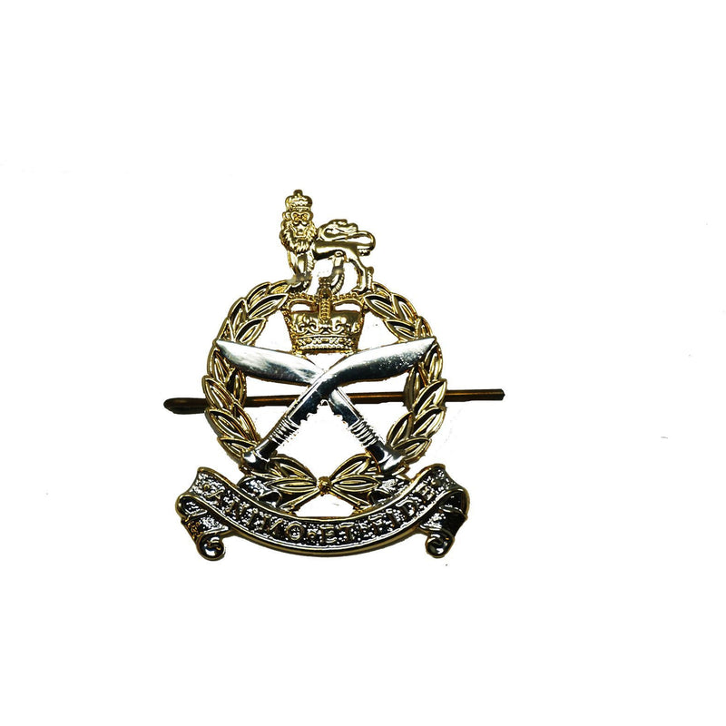 Cap Badge - GSPS- Gilt & Silver Plate - Shanks