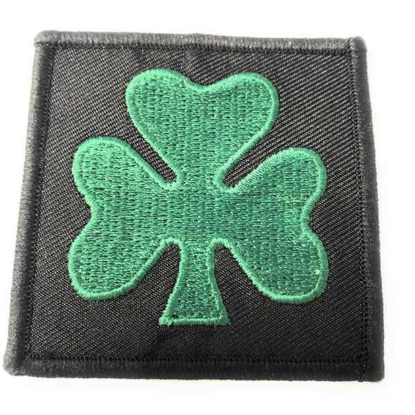 TRF - R IRISH -Green Shamrock on Black Background - 60 x 60mm - Pack 5
