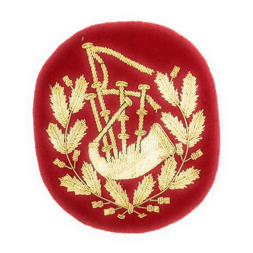 No1 Dress Pipe Major's Badge Gold/Scarlet