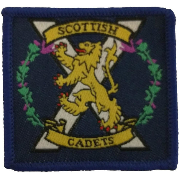 TRF- Scottish Cadets Badge - 45mm x 45mm - Pack of 5