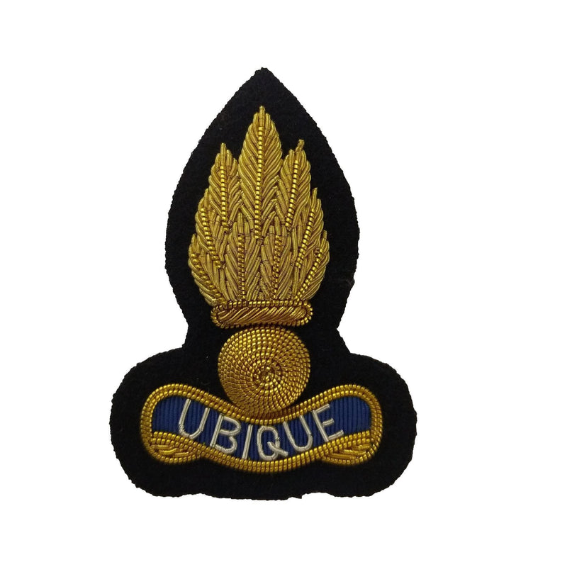 Beret Badge - Royal Engineers - B/W Grenade on Navy | Ammo & Company |