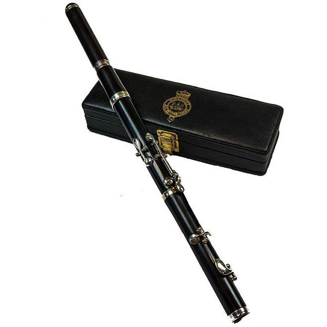 Viscount F (High Pitch) Flute 5 Key, 4 Piece in African Blackwood. Complete with Leather Box