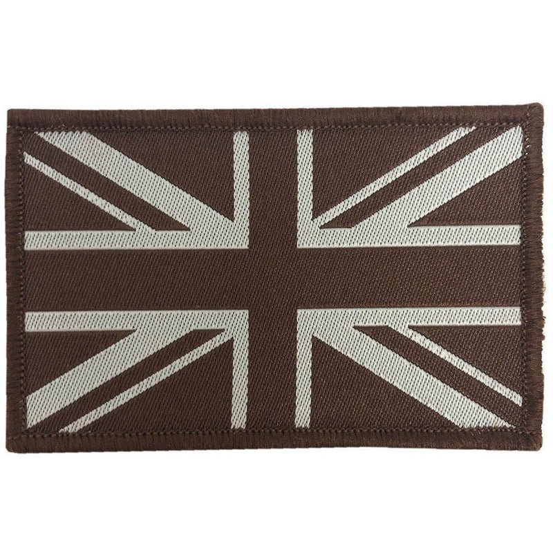 Embroidered Union Jack GB Patch - Desert Tan