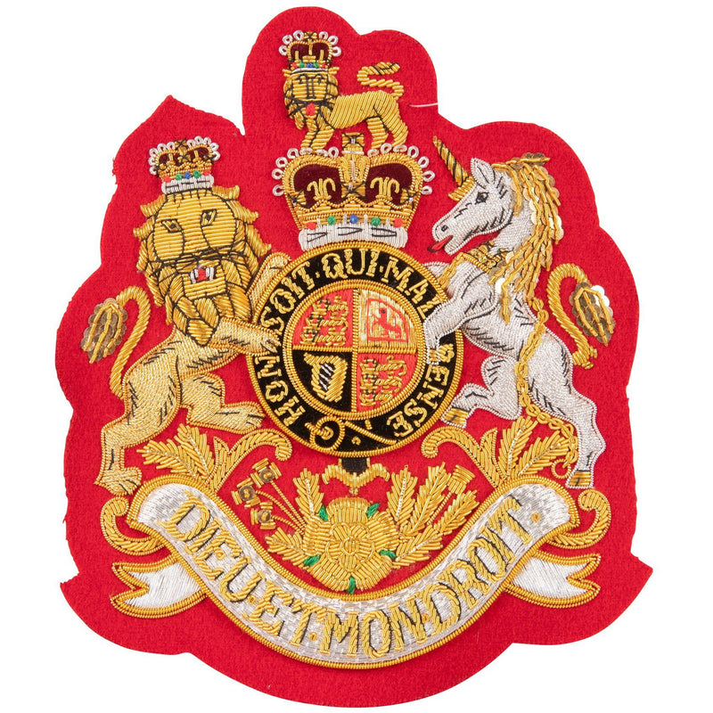 Guards RSM Full Dress Badge on Red - 13cm x 15cm  - Singles