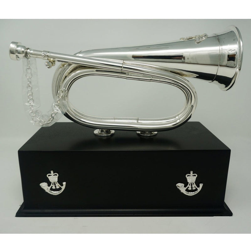 Rifles Presentation Bugle - Large Plinth