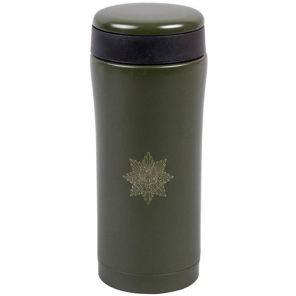 330ml Flask - Royal Anglian Badge Engraved - Olive Green | Ammo & Company |